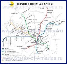 Карта метро Далласа