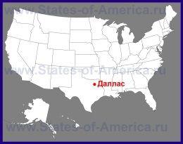 Даллас на карті США