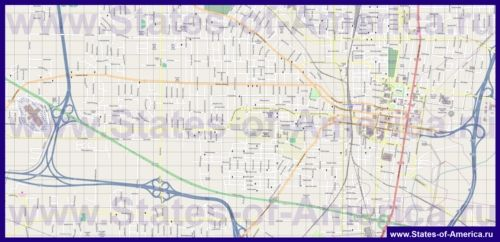 Детальна карта міста Джексон
