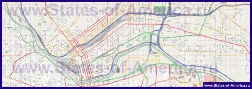 Детальна карта міста Ель-Пасо