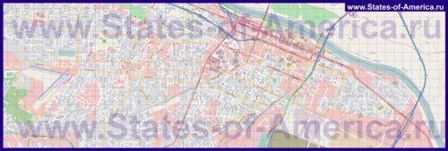 Детальна карта міста Огаста