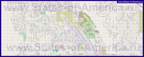 Детальна карта міста Палм-Спрінгс