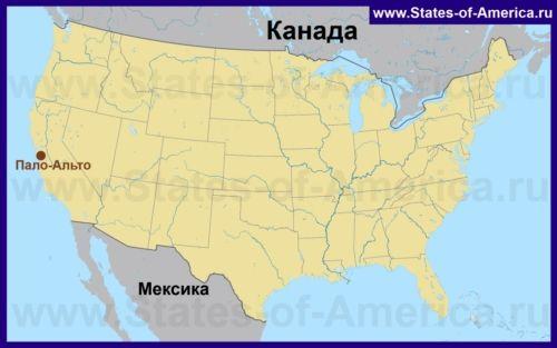 Пало-Альто на карті США