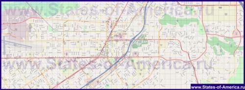 Детальна карта міста Ріверсайд