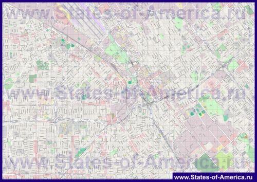 Детальна карта міста Сан-Хосе