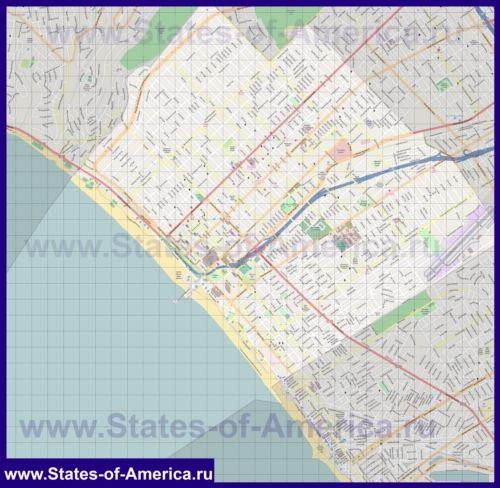 Детальна карта міста Санта-Моніка