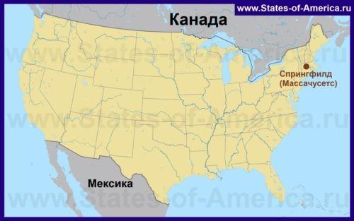 Спрінгфілд на карті США