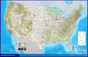 Карти сша. Докладні карти америки.