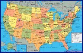 Політична карта США
