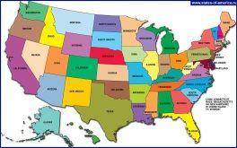 Карта штатів США