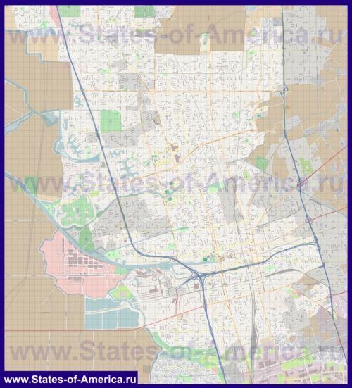 Детальна карта міста Стоктон