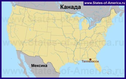 Таллахассі на карті США