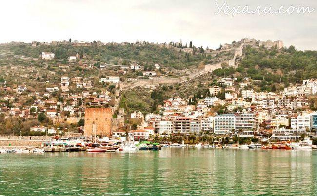 Фото Аланії, Туреччина: Червона вежа і Фортеця Аланії.