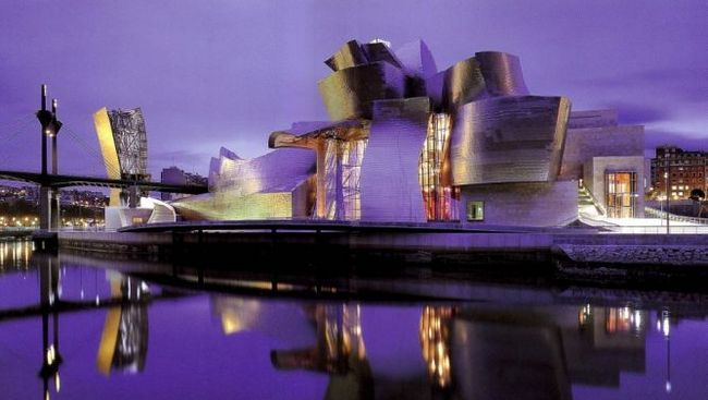 Музей гуггенхайма в більбао - музей сучасного мистецтва в більбао, іспанія