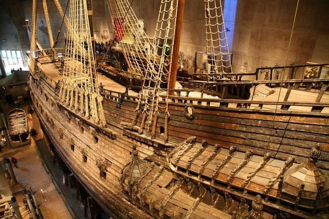 Музей корабля васа (vasa), стокгольм, острів юргорден (швеція)