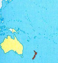 Нова Зеландія на мапі