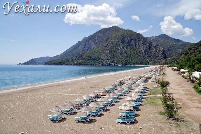 Туреччина, пляж Чірали