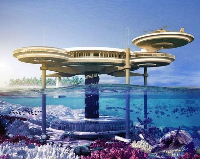 Надводної-підводний дисковий готель