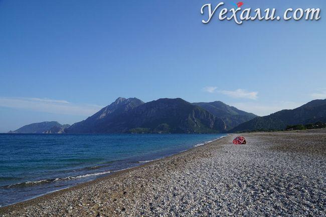 Пляж Чірали в Туреччині