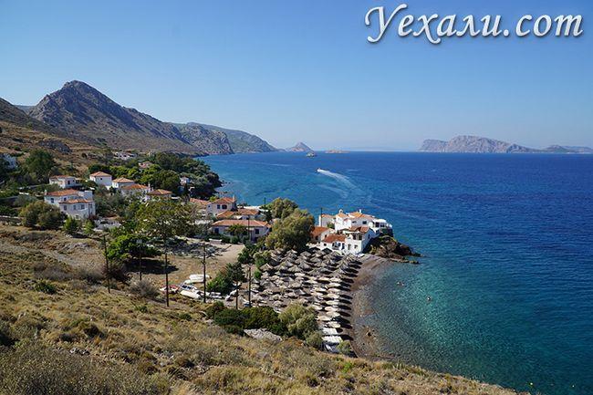 Пляж острова Гідра в Греції