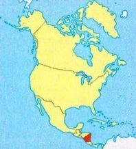 Нікарагуа на мапі