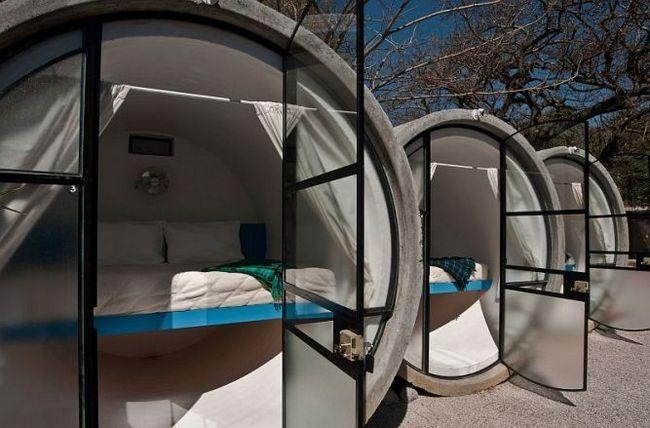 Готель в бетонних трубах - tubohotel, тепостлан, мексика