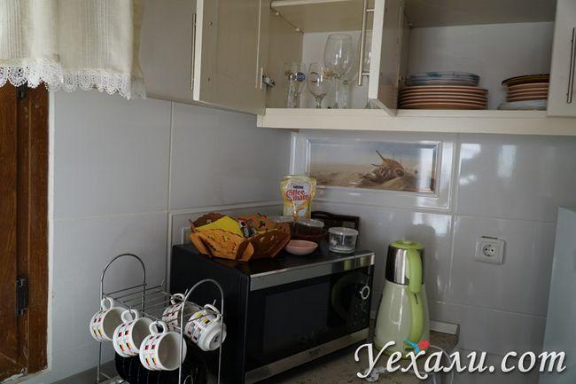 Кухонне приладдя в готелі