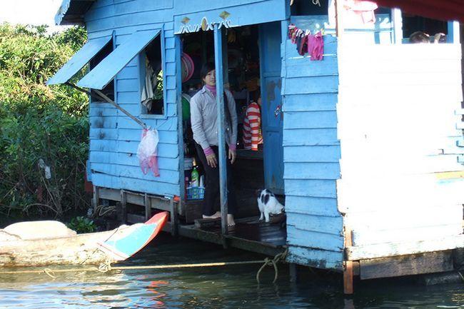 Фото озера Тонлесап в Камбоджі.