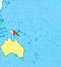Папуа - Нова Гвінея на мапі