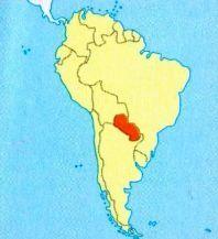 Парагвай на мапі