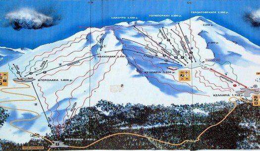 Парнас - головний гірськолижний курорт греції