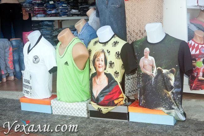 Пляжі Сіде: сувенірна крамниця.