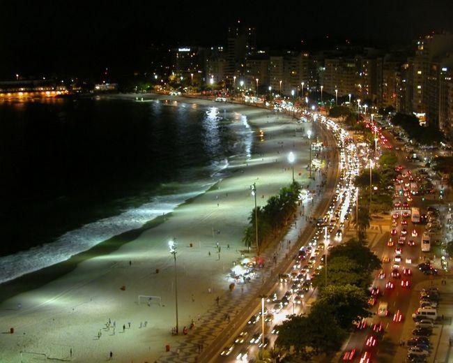 Пляж Копакабана (Copacabana beach), громадський пляж, Ріо-де-Жанейро, Авеніда Атлантика, Бразилія,