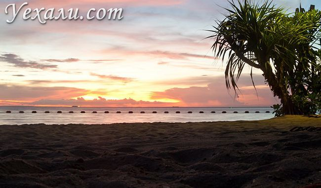 Пляж Вонг Амато, Паттайя, фото заходу.