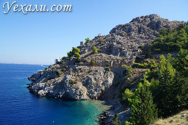 Пляжі острова Гідра в Греції