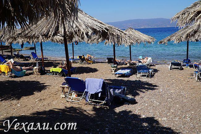 Пляжі острова Ідра, фото