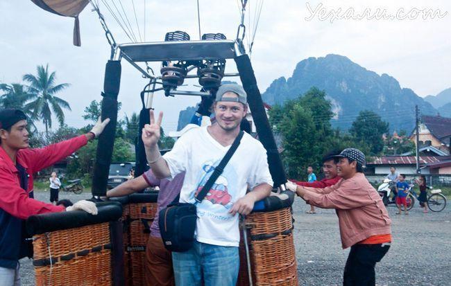 політ на повітряній кулі в ванг вьенге