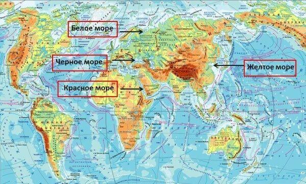 Детальна карта чорноморського узбережжя росії та його курорти
