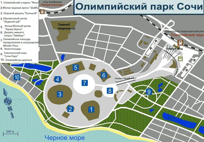 Детальна карта сочи - лазаревський, центральний, хостінскій і адлер