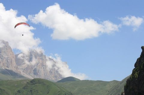польоти на параплані в П`ятигорську, польоти в Чегемском ущелині