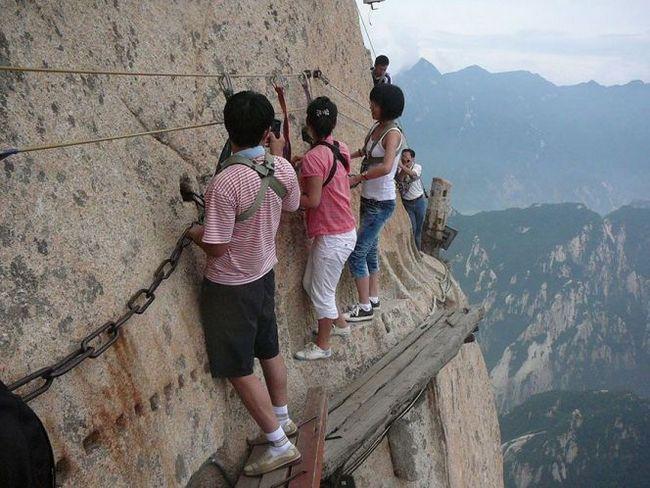 Найнебезпечніша піша стежка в світі, гора хуашань, китай