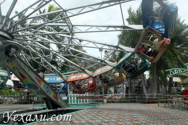 Каруселі в Сіам Парку, кращі атракціони