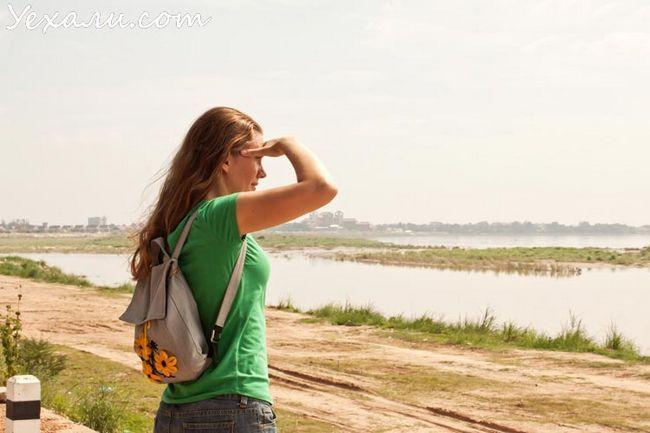 В`єнтьян, річка Меконг в центрі міста