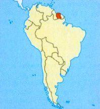 Суринам на мапі