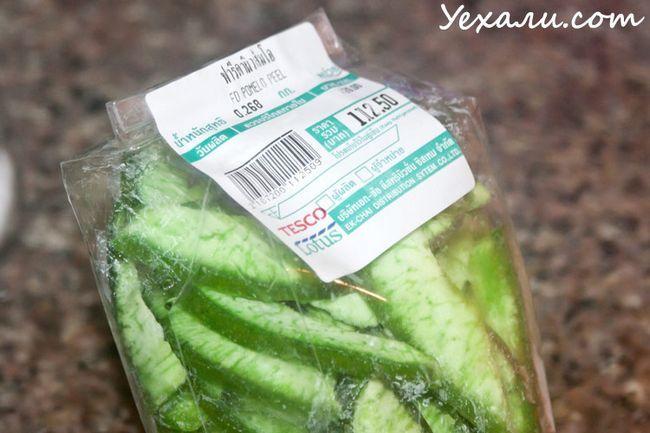 Незвичайні продукти з Теско Лотус в Паттайя: сушене помело