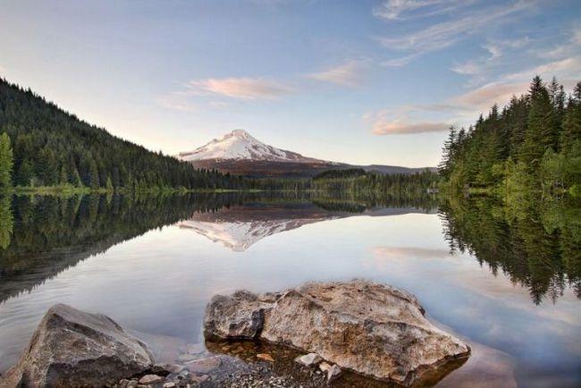 Триллиум (trillium lake) - мальовниче озеро в орегон, сша