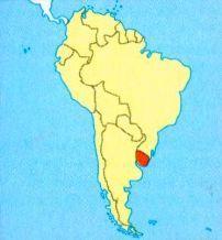 Уругвай на мапі