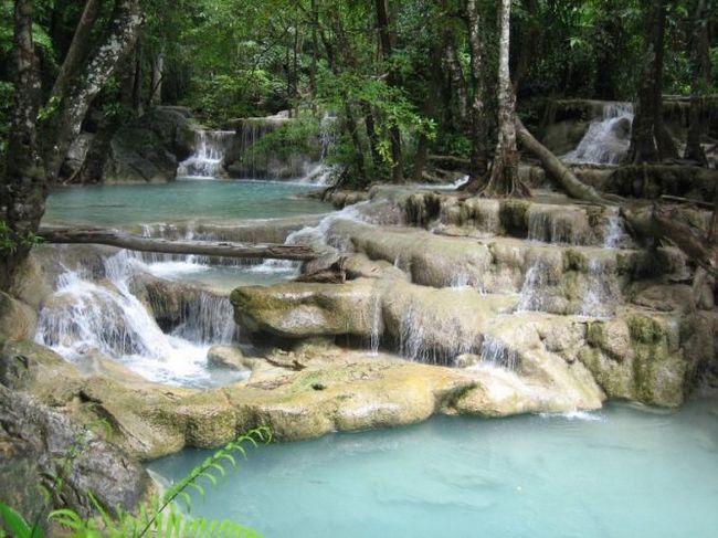 Водоспад ераван (erawan waterfall) - провінція канчанабурі, таїланд