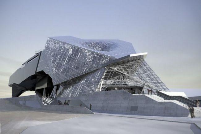 Будівля неординарної форми «музей злиття» (mus e des confluences), ліон, франція